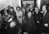 Wystawa Halimy (od prawej: Marek Żuławski, Franciszka i Stefan Themersonowie; z tyłu: Zygmunt Nałęcz, William Scott)