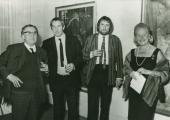 Wystawa Josepha Lacasse'a (od lewej: Lacasse, William Crozier, John Bellany)