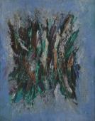 """Lyrical Sonnet"", 1960<br>olej na płótnie<br>46 x 35,5 cm<br>(Wł. MUT)"