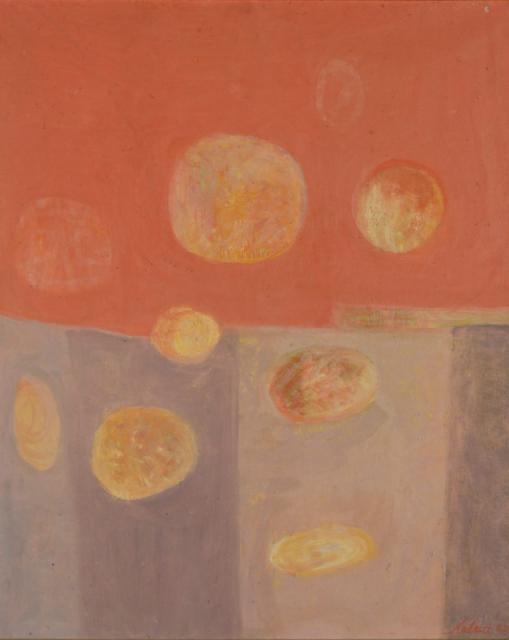 Bez tytułu, 1962<br>olej na płótnie<br>100 x 81 cm<br>(Wł. MUT)