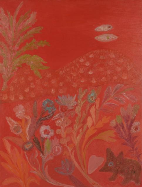 """Japanese Landscape"", 1965<br>olej na płótnie<br>122 x 91 cm<br>(Wł. MUT)"