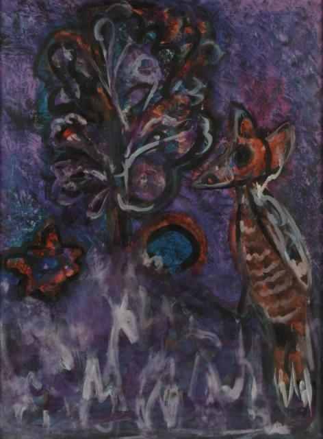 """The Philosopher"", 1967<br>gwasz<br>75 x 55 cm<br>(Wł. MUT)"