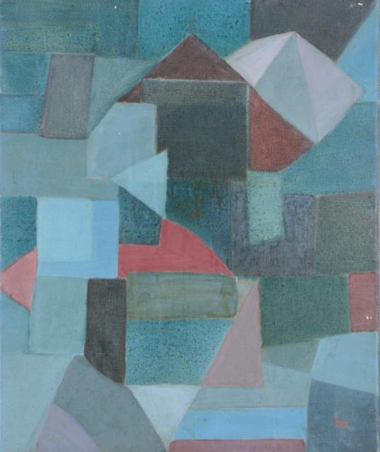 """Abstract II"", 1952<br>olej na płótnie<br>61 x 51 cm<br>(Wł. MUT)"