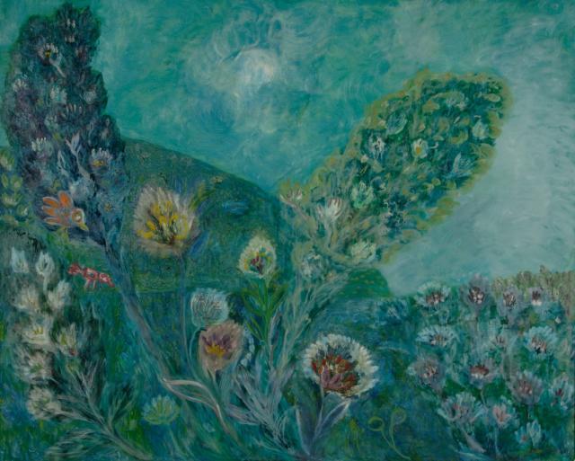 """""""End of Summer"""",1972<br>olej na płótnie<br>102 x 127 cm<br>(Wł. MUT)"""
