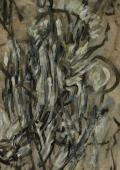 Bez tytułu, 1959<br>gwasz, olej na papierze<br>59 x 42 cm<br>(Wł. MUT)