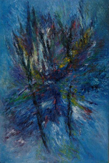 """""""In the Air"""", 1960<br>olej na płótnie<br>183 x 121 cm<br>(Wł. MUT)"""