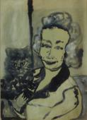 Autoportret, b.r.<br>tusz na papierze<br>73 x 53 cm<br>(Wł. MUT)