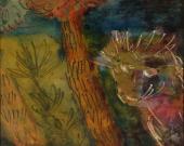 Bez tytułu, 1968<br>tusz na papierze<br>27 x 33 cm<br>(Wł. MUT)