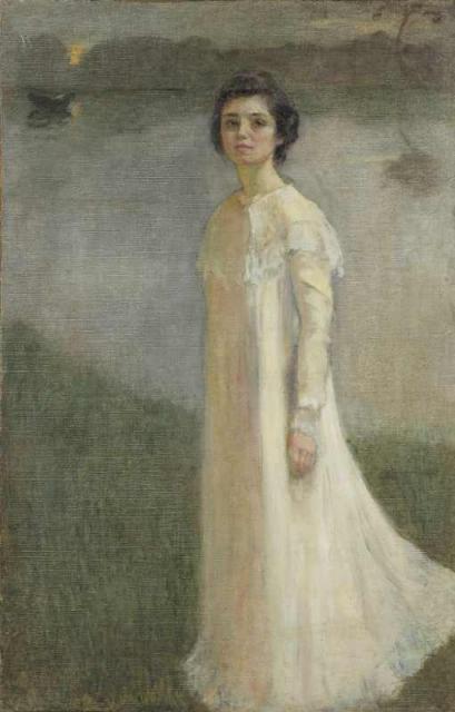 """""""Autoportret w świetle księżyca"""", ok. 1899/1990<br>olej na płótnie<br>72 x 46 cm"""