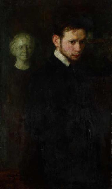 """""""Portret poety Leopolda Staffa"""", 1903<br>olej na tekturze<br>100 x 60 cm"""