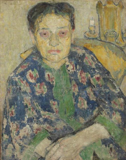 """""""Portret matki artystki, Zuzanny z Feigenblattów Klingsland"""", ok. 1904/1905<br>olej na płótnie<br>62 x 50,2 cm"""