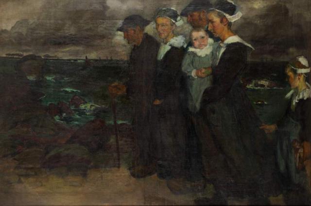 """""""Smutny kraj"""", 1906<br>olej na płótnie<br>97,7 x 147,5 cm"""