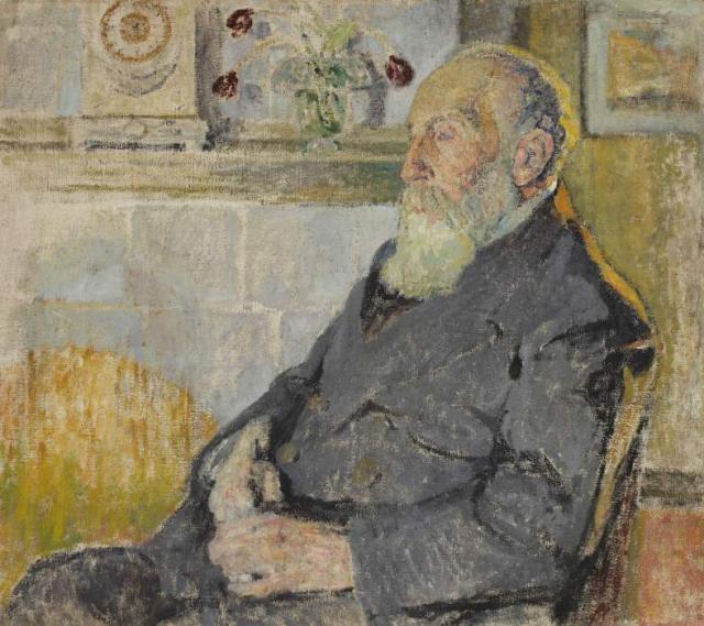 """""""Portret ojca artystki Fabiana Klingslanda"""", ok.1907<br>olej na płótnie<br>90 x 100 cm"""