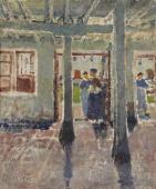 """""""Wnętrze domu baskijskiego"""", ok. 1913/1914<br>olej na płótnie<br>60,6 x 50,5 cm"""