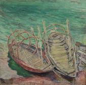 """""""Łódki na Lago Maggiore, Szwajcaria"""", 1915<br>olej na płótnie<br>75 x 74,8 cm"""