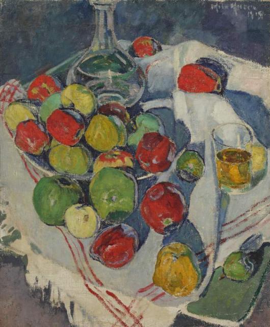 """""""Martwa natura z jabłkami"""", 1918<br>olej na płótnie<br>73 x 60 cm"""