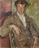 """""""Portret Anglika (Mr. Barnesa?)"""", ok. 1918/1919<br>olej na płótnie<br>112,5 x 93 cm"""