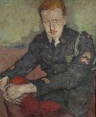 """""""Portret francuskiego oficera czołgisty"""", ok. 1919<br>olej na tekturze<br>106,9 x 85,6 cm"""