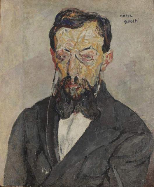 """""""Portret pisarza francuskiego Georges Polti"""", ok. 1929/1921<br>olej na płótnie<br>65,7 x 54,2 cm"""