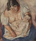 """""""Macierzyństwo"""", 1924<br>olej na płótnie<br>100 x 86,5 cm"""