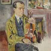 """""""Portret skrzypka Bronisława Hubermana"""", 1924-1927<br>olej na płótnie<br>99,5 x 98,7 cm"""