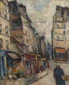 """""""Stary Paryż"""", ok. 1926<br>olej na płótnie<br>60 x 49,5 cm"""