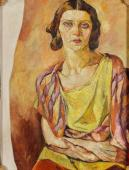 """""""Autoportret – nieskończony"""", ok. 1936-1939<br>olej na płótnie<br>83 x 64 cm"""