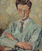 """""""Portret dr Bolesława Nawrockiego"""", 1965<br>olej na płótnie<br>77,5 x 64,3 cm"""
