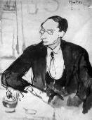"""""""Portret artysty malarza Romana Kramsztyka"""", ok. 1921<br>tusz na papierze<br>31 x 24 cm"""