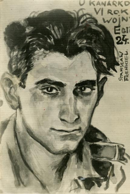 Autoportret, Egipt 1944