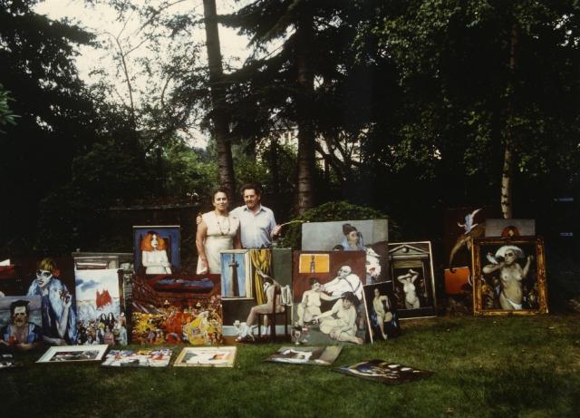 W ogrodzie przed wystawą, 1983
