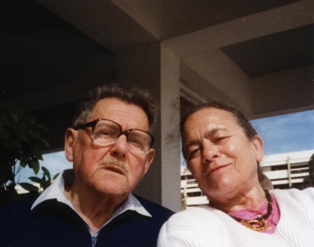 Z żoną Anną, lata 90.