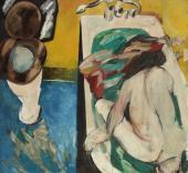 """""""Bathroom"""", ok. 1960<br>olej na sklejce<br>122 x 132 cm<br>(Wł. MUT)"""